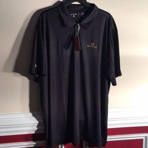 NWT Black Antigua Golf Shirt XXL